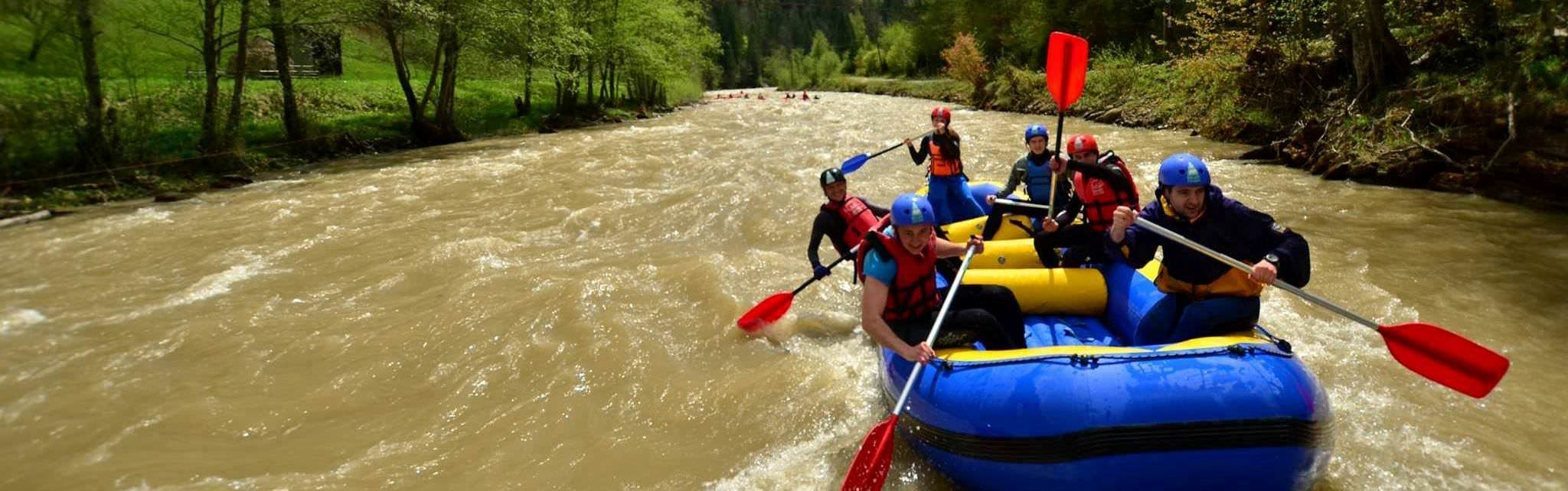 white water rafting and kayaking in Ukraine